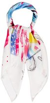 Marc Jacobs Abstract Printed Silk Scarf