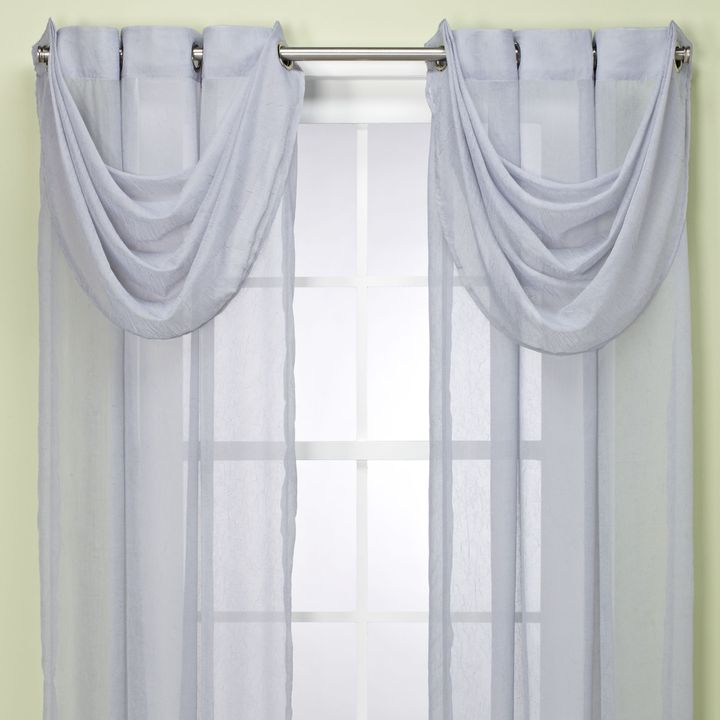 Bed Bath & Beyond Anya Waterfall Valance in Blue