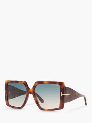 Tom Ford FT0790 Women's Quinn Statement Square Sunglasses