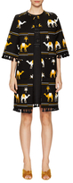 Kate Spade Embroidered Camel Coat