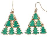 Christmas Tree Tiered Drop Earrings