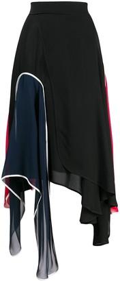 J.W.Anderson asymmetric panelled skirt