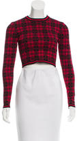 Torn By Ronny Kobo Plaid Patterned Crop Top