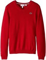 Lacoste Kids Solid V-Neck Sweater (Toddler/Little Kids/Big Kids)