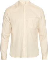 Oliver Spencer Granddad cotton and linen-blend shirt