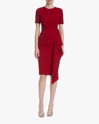 Badgley Mischka Asymmetrical-Ruffle Dress