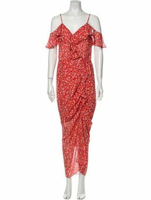 Veronica Beard Silk Long Dress Orange