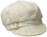 Nine West Women's Novelty Metallic Newsgirl Hat