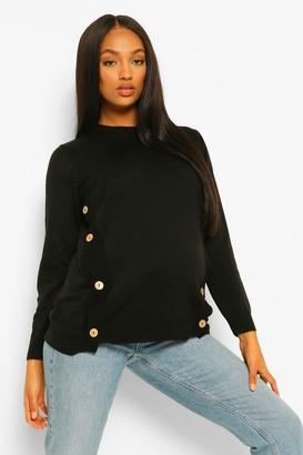 boohoo Maternity Button Side Nursing Sweater
