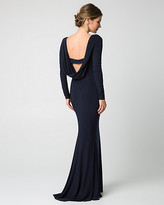 Le Château Knit Cowl Back Gown