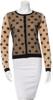 RED Valentino Lace-Accented Printed Cardigan