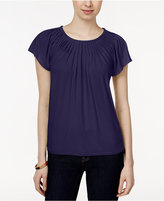 Style&Co. Style & Co. Pleated-Neck Top, Only at Macy's