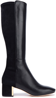 Tory Burch Gigi 55 Leather And Suede Boots