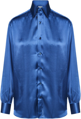 Woera Classic Silk Button-Up