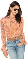 Majorelle Canyon Shirt in Peach. - size S (also in XS)