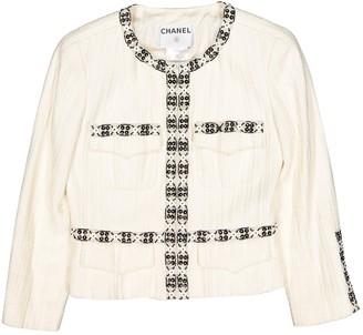 Chanel Ecru Cotton Jackets