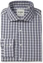 Ben Sherman Men's Slim Fit Herringbone Check Spread Collar Dress Shirt