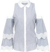 Jonathan Simkhai cold-shoulder shirt