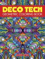 Dover Deco Tech: Geometric Coloring Book