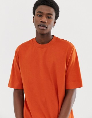 Asos loose fit t-shirt in terracotta soft cotton