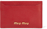 Miu Miu Madras Textured-leather Cardholder - one size