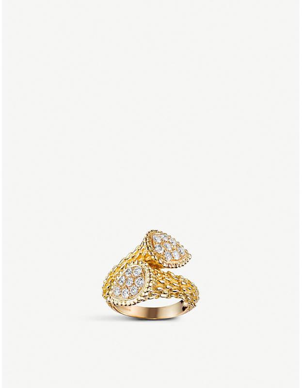 Boucheron Serpent Bohème Toi et Moi 18ct yellow-gold and diamond ring