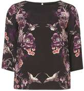Dorothy Perkins Purple Oriental Top