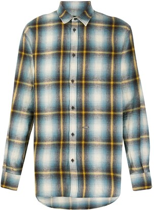 DSQUARED2 Long-Sleeved Plaid Shirt