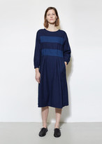 Blue Blue Japan Indigo Flannel Cutover Dress