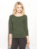 dressbarn roz&ALI Zip-Shoulder Sweater