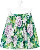 Dolce & Gabbana ortensia print skirt - kids - Cotton - 2 yrs