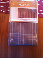 Martha Stewart Sporting Plaid Valance Brown Rust 84 X 13 Cotton