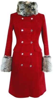 Karen Millen Burgundy Cotton Coat for Women