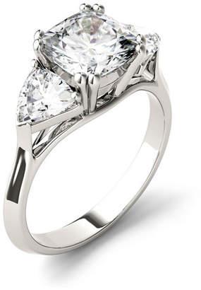 Charles & Colvard Moissanite Three Stone Ring 3 ct. t.w. Diamond Equivalent in 14k White Gold