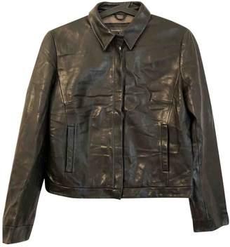 Banana Republic Black Leather Leather Jacket for Women
