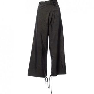 Saint Laurent Green Trousers for Women