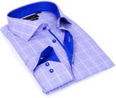 Blue & Royal Plaid Button-Up - Men's Regular