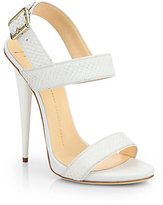 Giuseppe Zanotti Snake-Embossed Leather Sandals