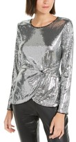 INC International Concepts Inc Twisted Sequined Top, Created For Macy's