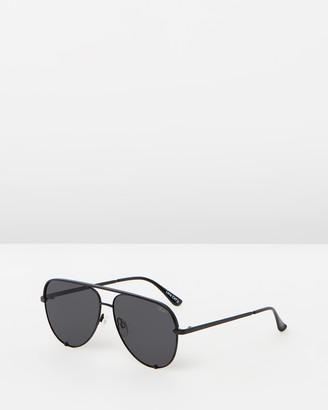 Quay High Key Polarised Black Aviator Sunglasses
