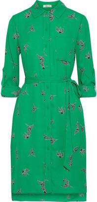 Diane von Furstenberg Kadi Printed Crepe Mini Shirt Dress