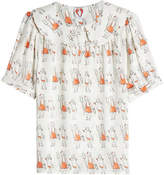 Shrimps Printed Silk Top