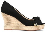 Tory Burch Dory Peep-Toe Espadrilles Wedges