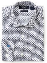 Original Penguin Heritage Slim-Fit Spread-Collar Glasses Novelty Print Dress Shirt