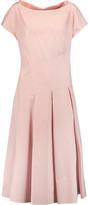 Vionnet Pleated cotton-blend poplin midi dress