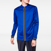 Paul Smith Men's Cobalt Blue Mercerised-Cotton Band-Collar Shirt