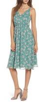 Soprano Women's Floral Blouson Midi Dress
