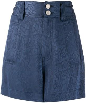 Just Cavalli Snakeskin Print Shorts