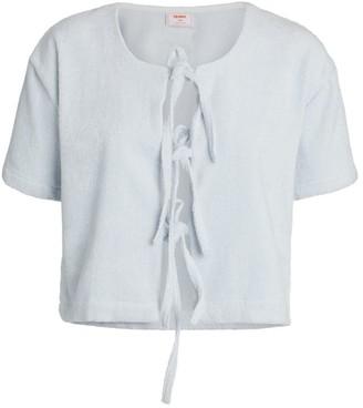 Terry. Cotton Tie-Detail Top