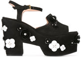 Moschino embellished platform sandals - women - Leather/Suede/Polyamide - 36.5